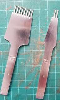 Used French pricking iron 3.0mm 2 + 8 teeth set