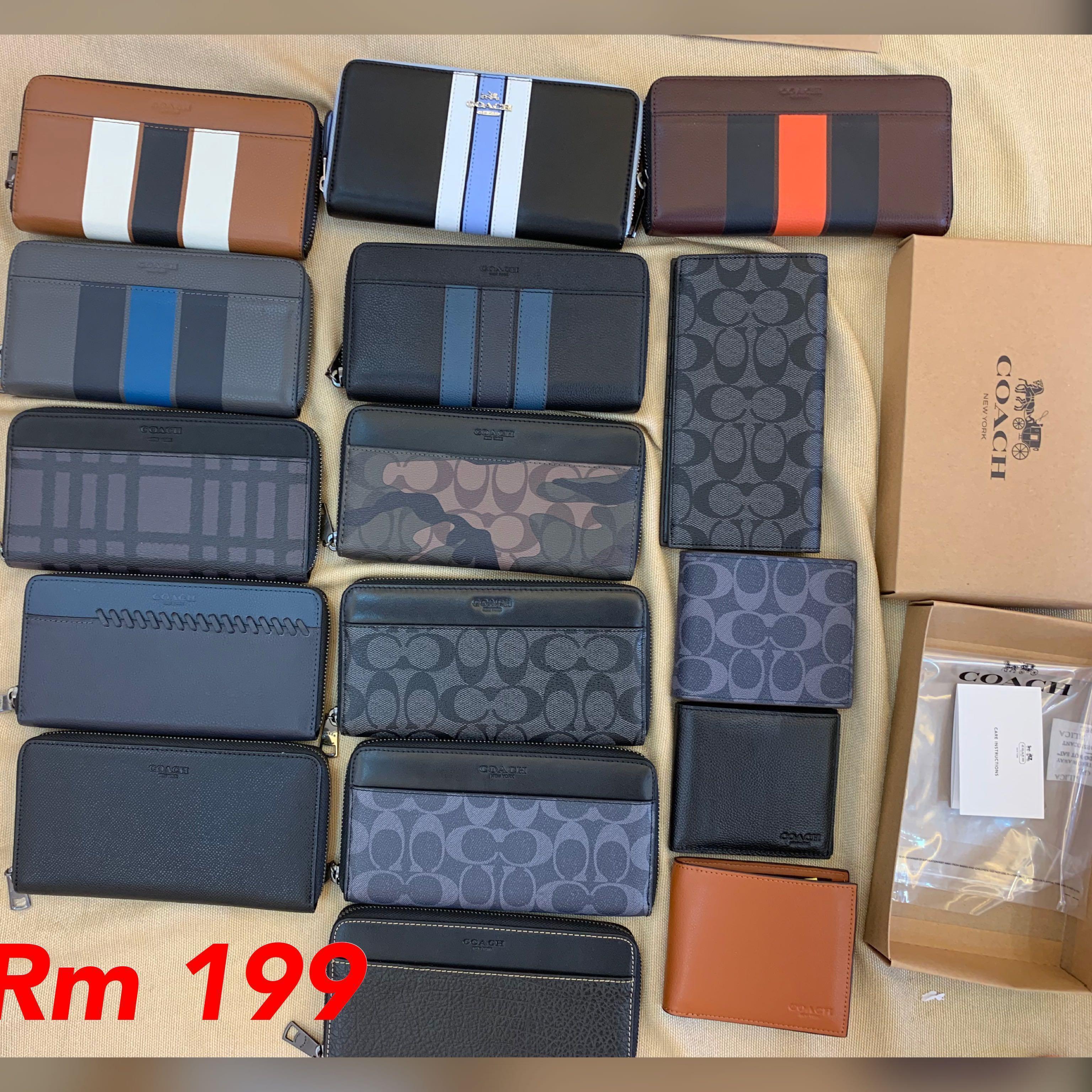 25/12/18)Coach women men clutch purse wristlets Wallet