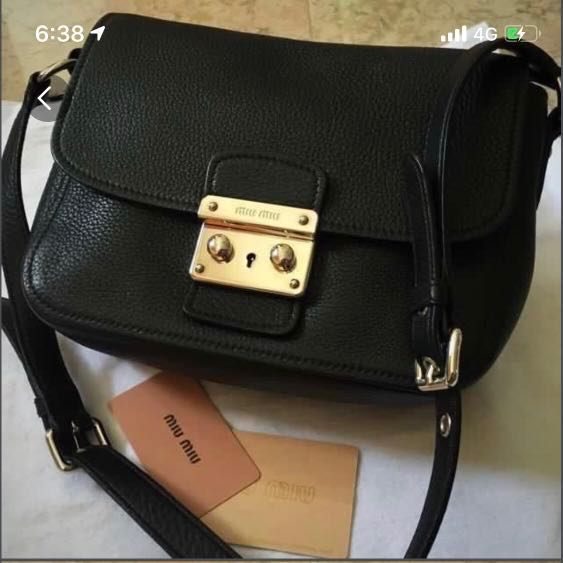 8cd5642116b  499 Miu Miu black sling bag, Women s Fashion, Bags   Wallets ...