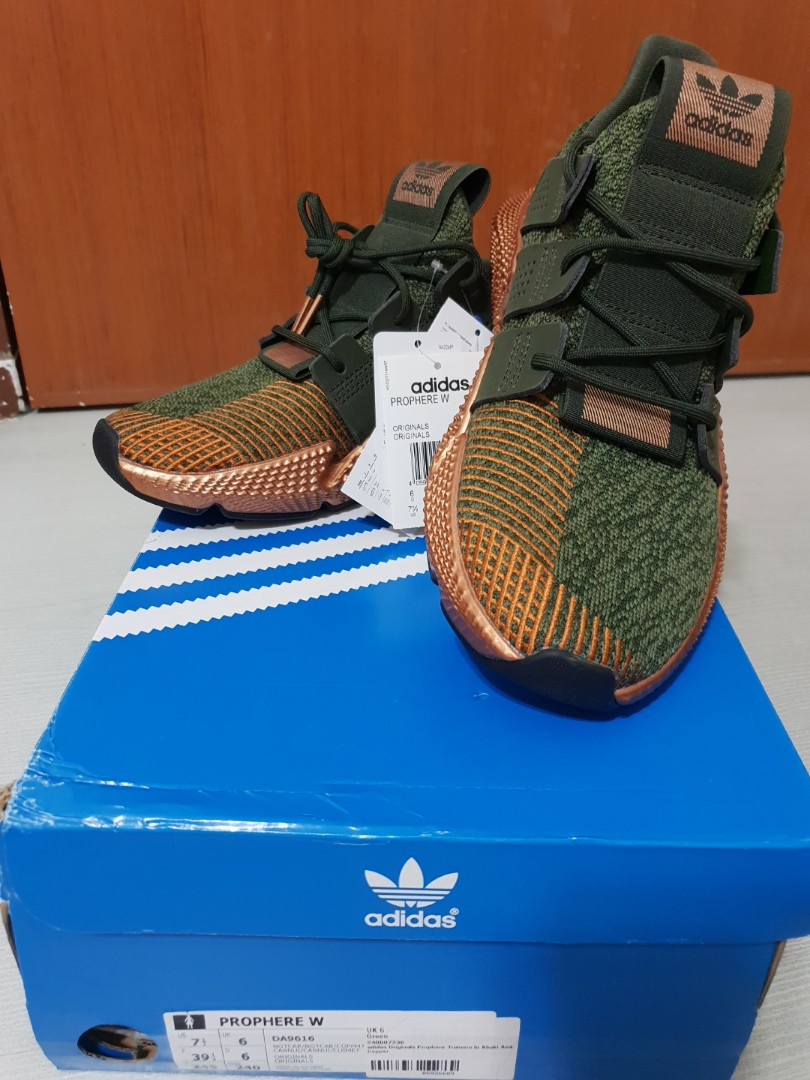adidas Originals Prophere Trainers In Khaki And Green 98c9d2062