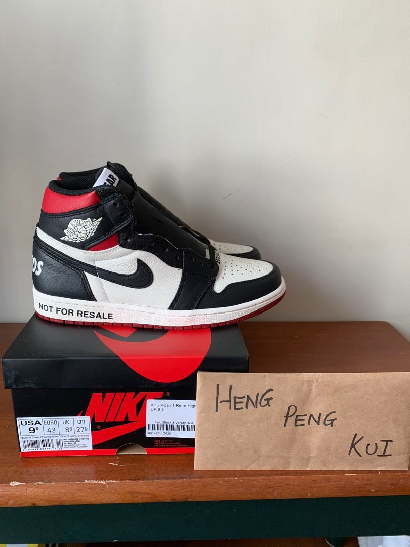 size 40 cc82c 08f75 Air Jordan 1 Not For Resale Red, Men s Fashion, Footwear, Sneakers ...
