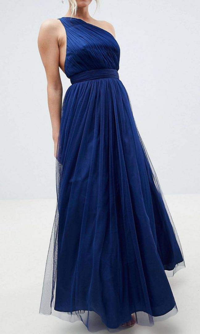 2545f53eb97 Asos design petite premium tulle one shoulder maxi dress