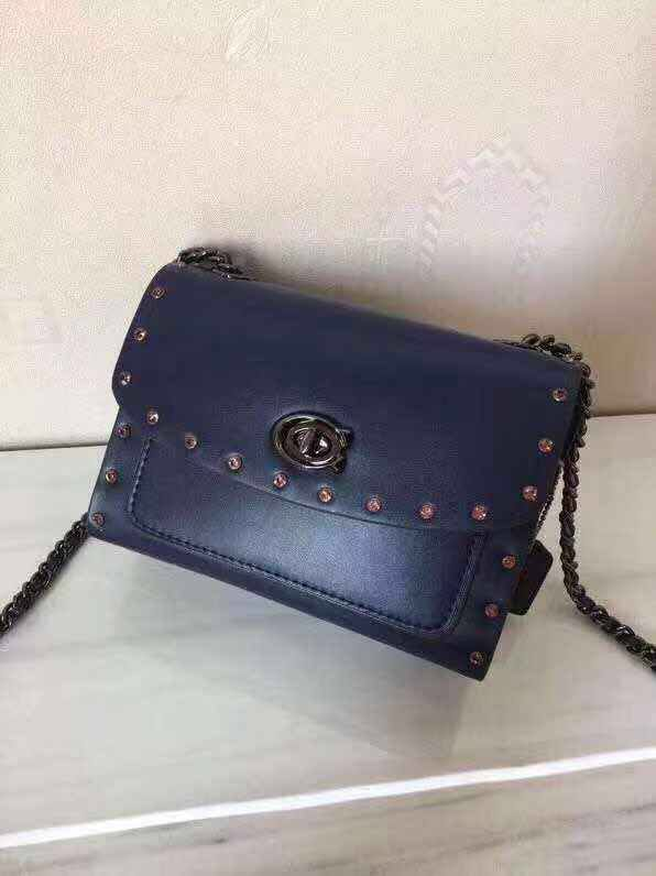 6f150325d Authentic Coach Parker 18 With Crystal Rivets 35566, Women's Fashion ...