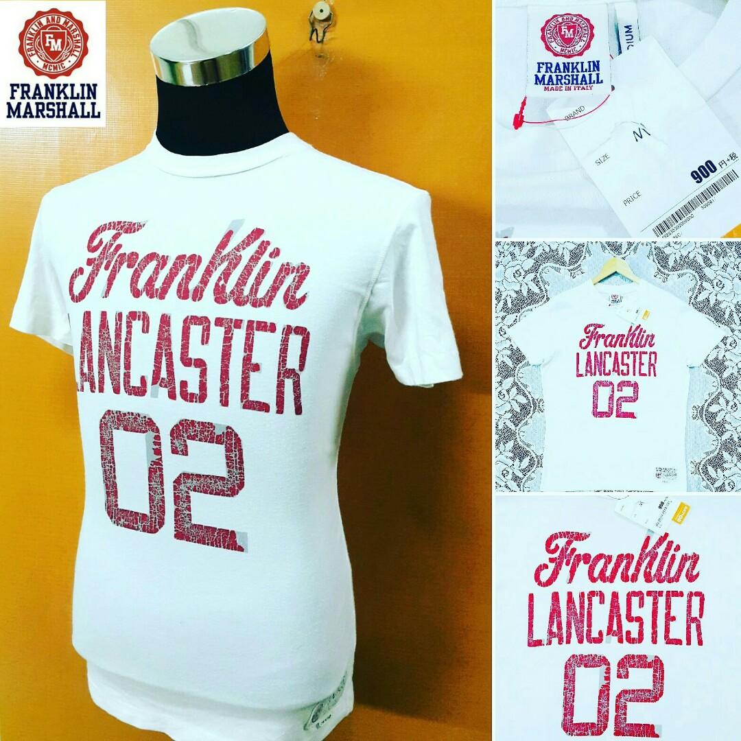official photos 7d024 8ade6 BAJU FRANKLIN MARSHALL ITALY Colors Cream Original T-Shirts ...