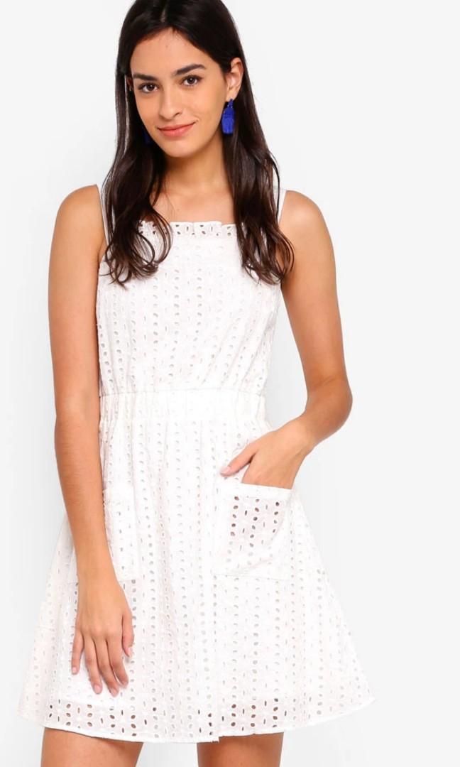 38a0ba23ec Bnwt Zalora White Eyelet Lace Bustier Dress XL
