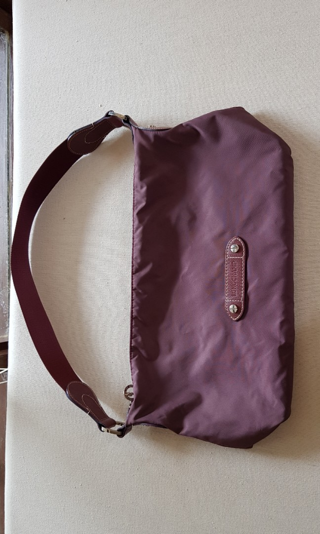 9c240c394a Burgundy Longchamp sling bag great condition, Women's Fashion, Bags ...