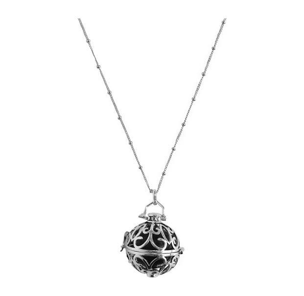 (BY INVITE ONLY) Yu Ahn Large Locket Necklace with black onyx