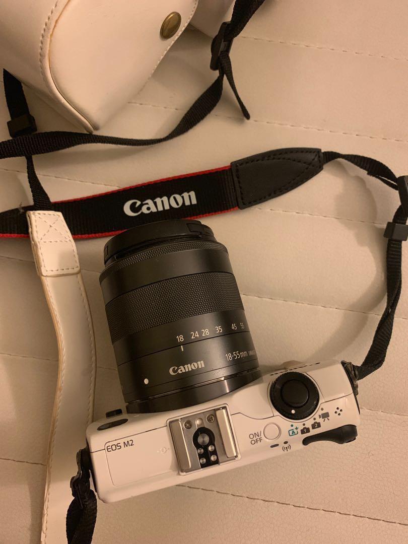 Canon EOS M2 Camera White 95% New