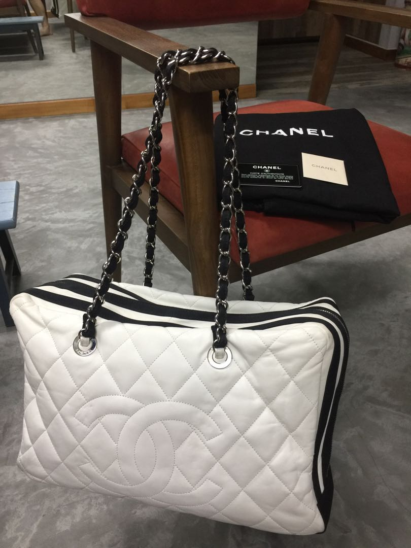 4b20e2f5cd0b Chanel large handbag, Luxury, Bags & Wallets, Handbags on Carousell