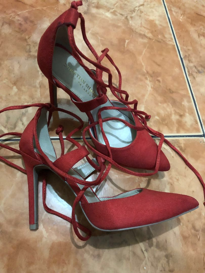 Christian Siriano Red shoes, Women's