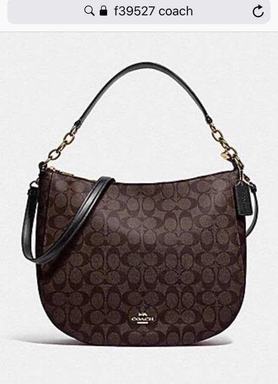 c66a2cdc0062 Coach Handbag authentic Elle hobo signature canvas