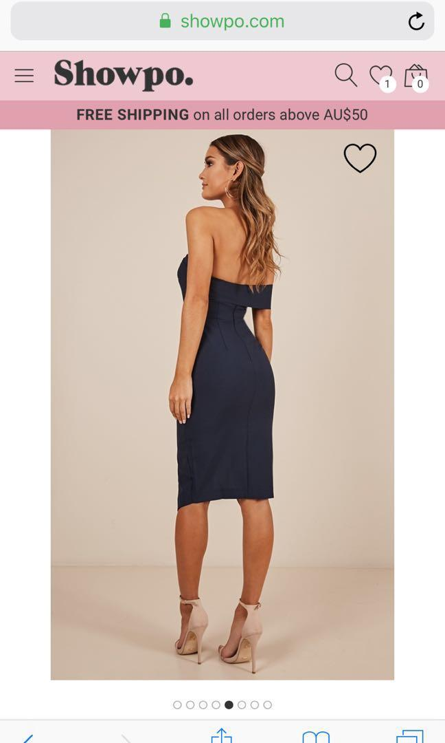 Cocktail dress in Navy