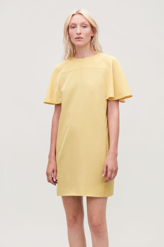 97287d2432 Cos yellow dress size eu34, Women's Fashion, Clothes, Dresses ...