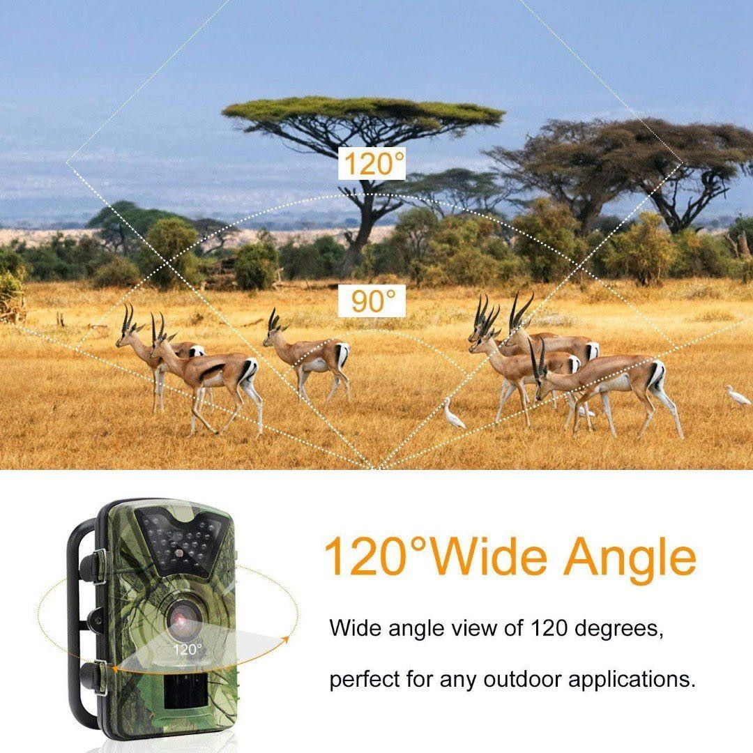 (E221) Trail Game Camera, 1080P HD 12MP Infrared Night Vision Hunting  Outdoor Camera, 0 5s Trigger Speed and 65 Feet Trigger Distance,  Weatherproof