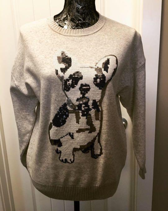Forever 21 Frenchie sequin sweater