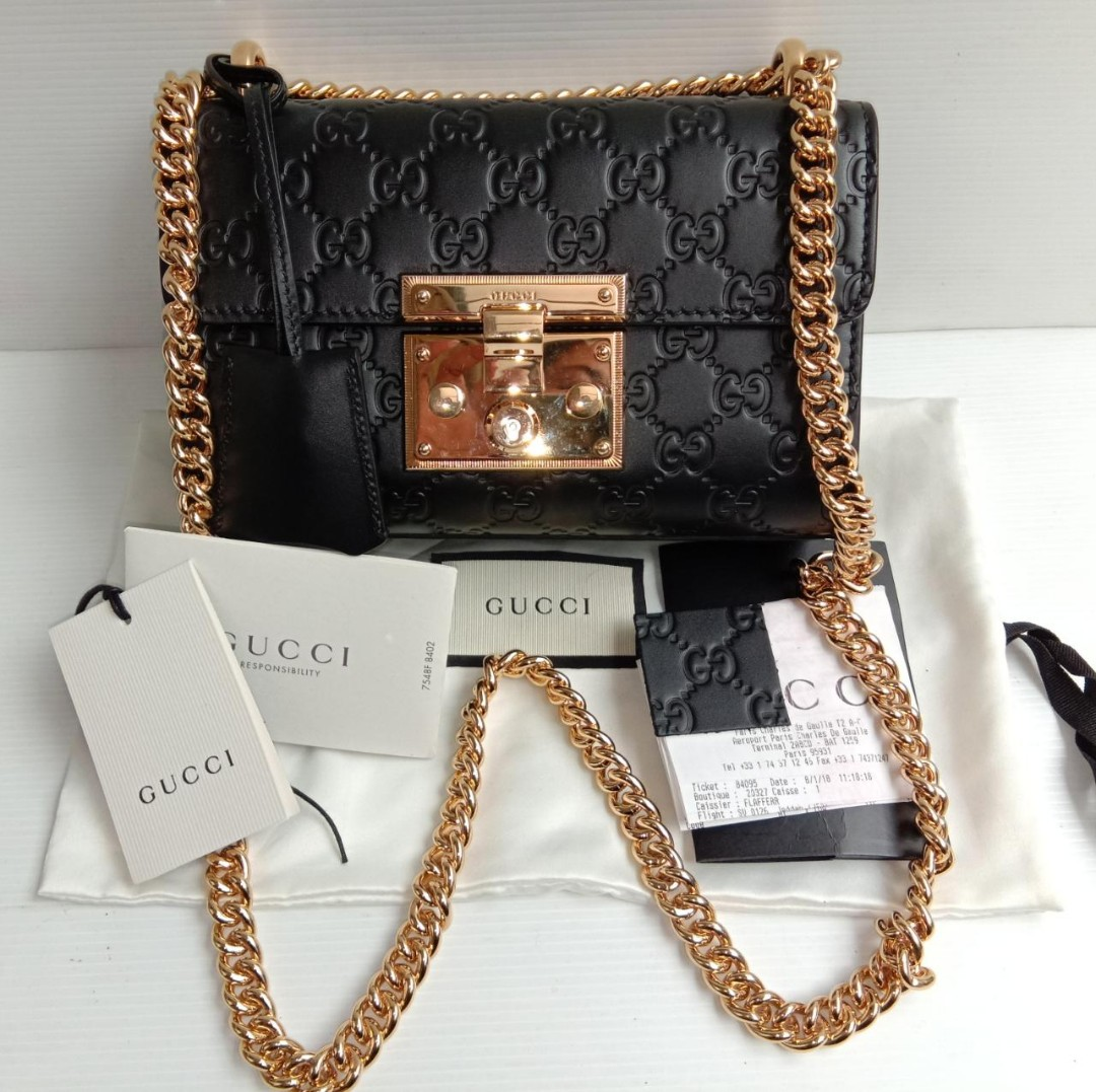 69f6058f0a5bd0 Gucci Padlock Black, Luxury, Bags & Wallets on Carousell