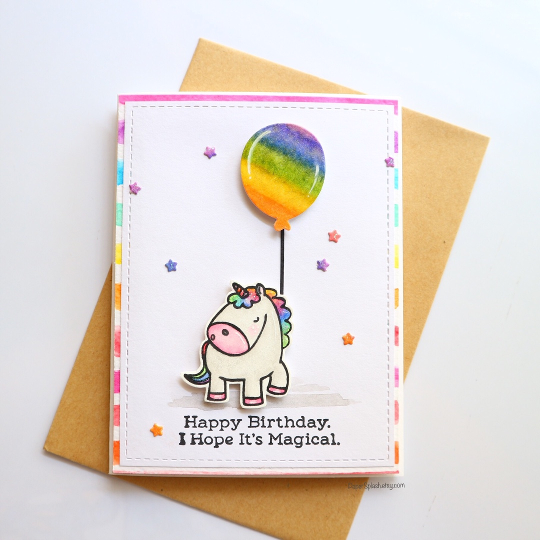 Handmade Unicorn Birthday Card Design Craft On