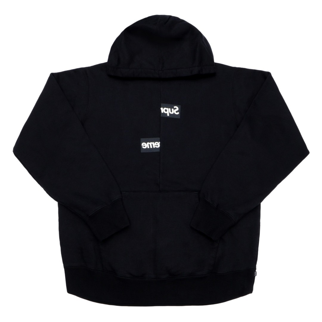 46e85e57 💯[IN STOCK-M,XL] Supreme CDG Split Box Logo Hoodie Black, Men's ...