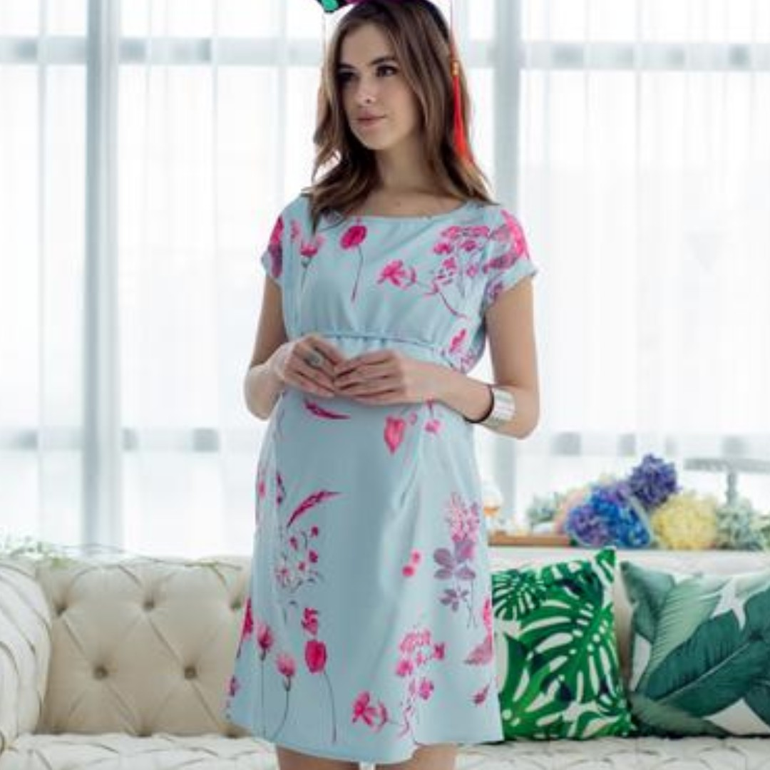 0532b1e098cb3 JEC JumpEatCry Prints and Twigs Maternity & Nursing CNY Dress ...
