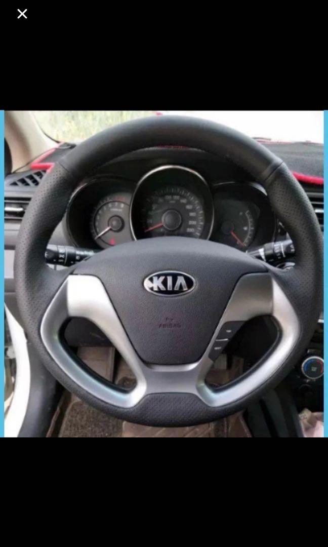 Kia K3 Nappa Leather Steering Wrap Service Car Accessories