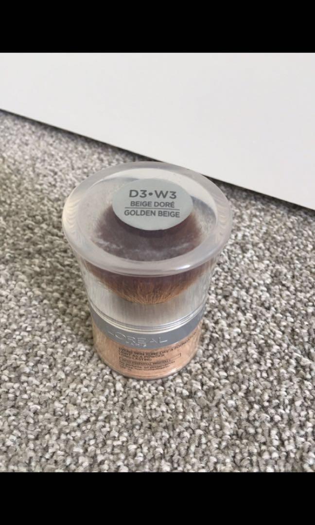 L'Oreal True Match Mineral Powder Foundation D3 W3 Golden Beige