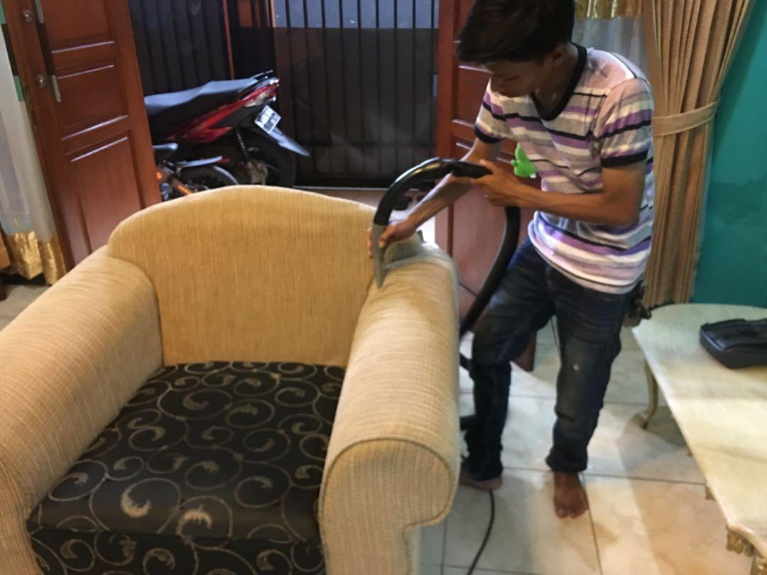Loundry kursi kantor- karpet- sofa- jok mobil- springbed- kursi makan