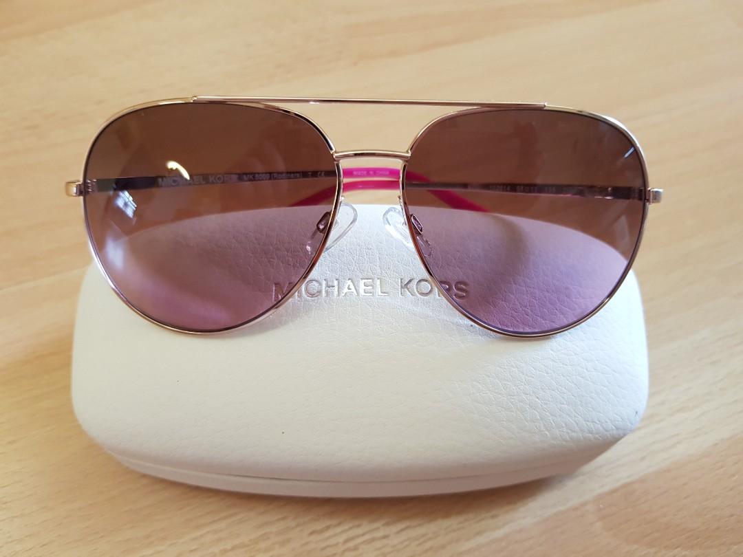 1f089728ce892 Michael Kors Rose Gold Aviator Sunglasses MK5009