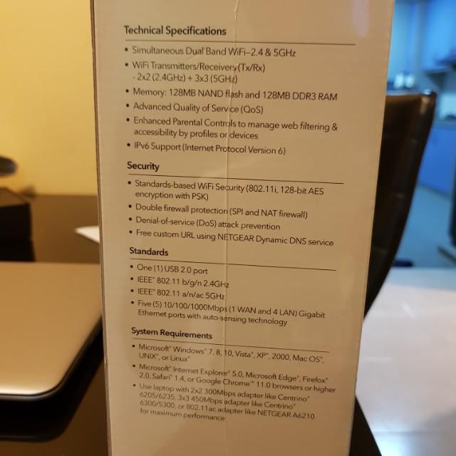 Netgear AC1600 Gigabit Router