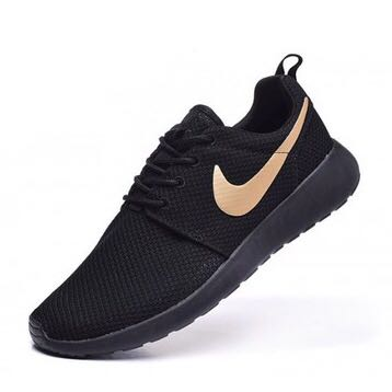 newest 1d4f4 13788 Nike Roshe Black Gold Tick, Men s Fashion, Footwear, Sneakers on Carousell