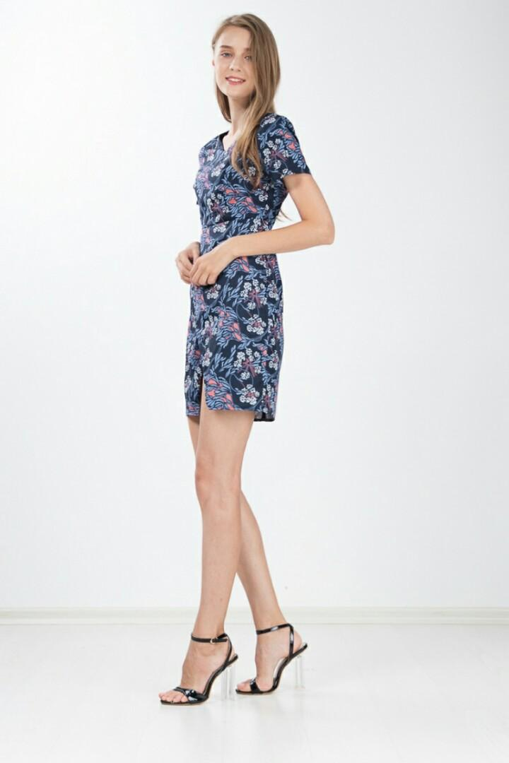 Ninth collective Aurelia printed floral dress