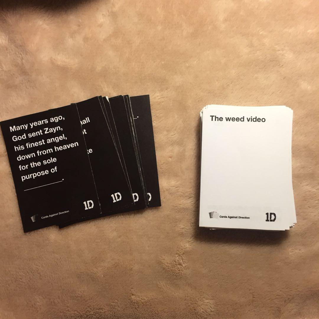 One Direction Cards Against Humanity