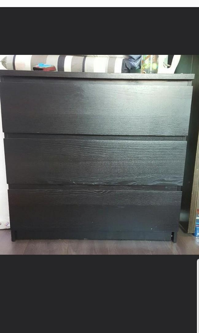 Preloved 3 drawer Chest Cabinet