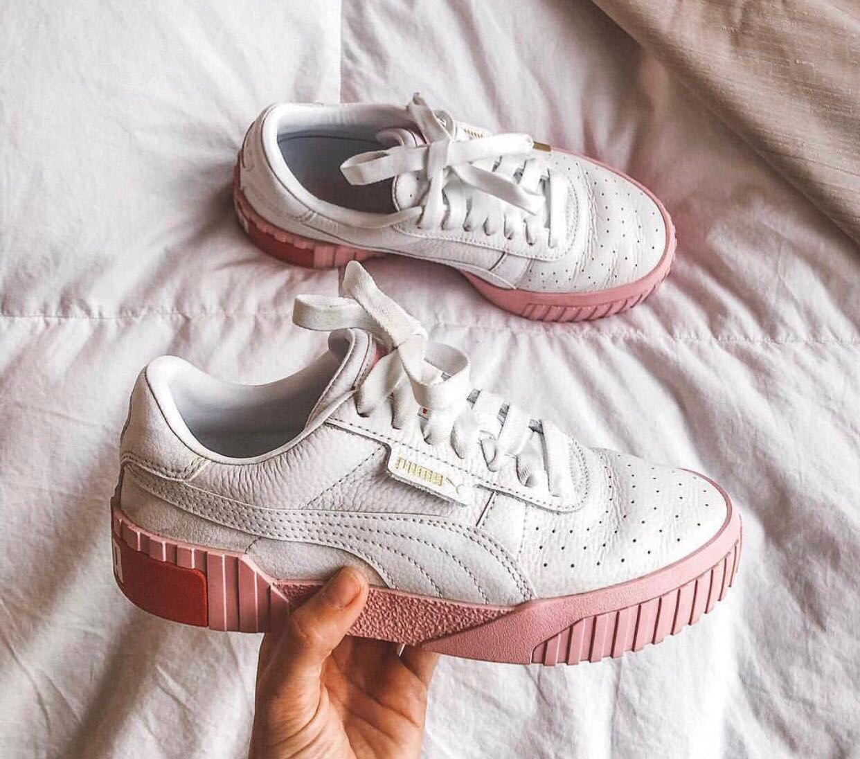 c13d49be11e1 Puma Cali white and pink trainers