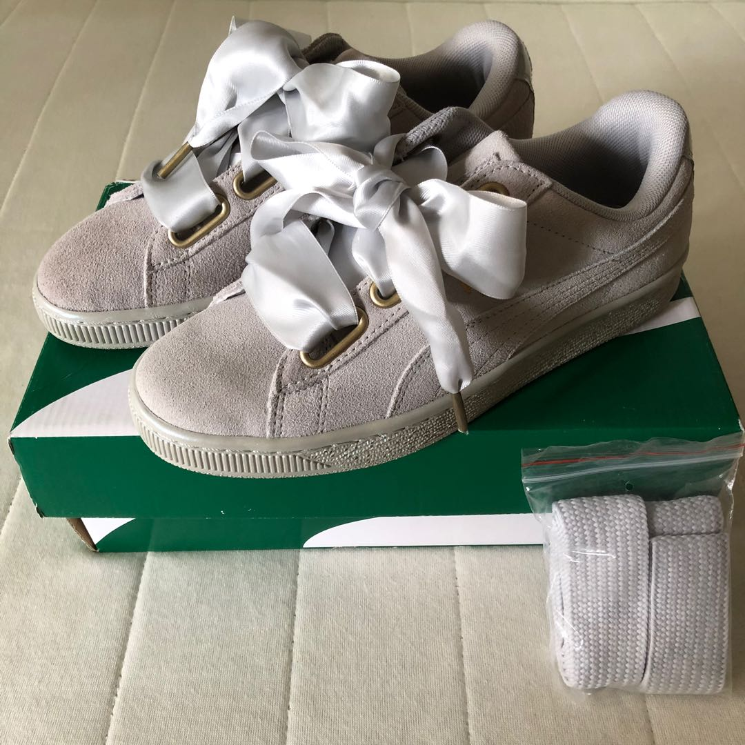 0fee97b86d8 Puma Suede Heart Satin basket shoe