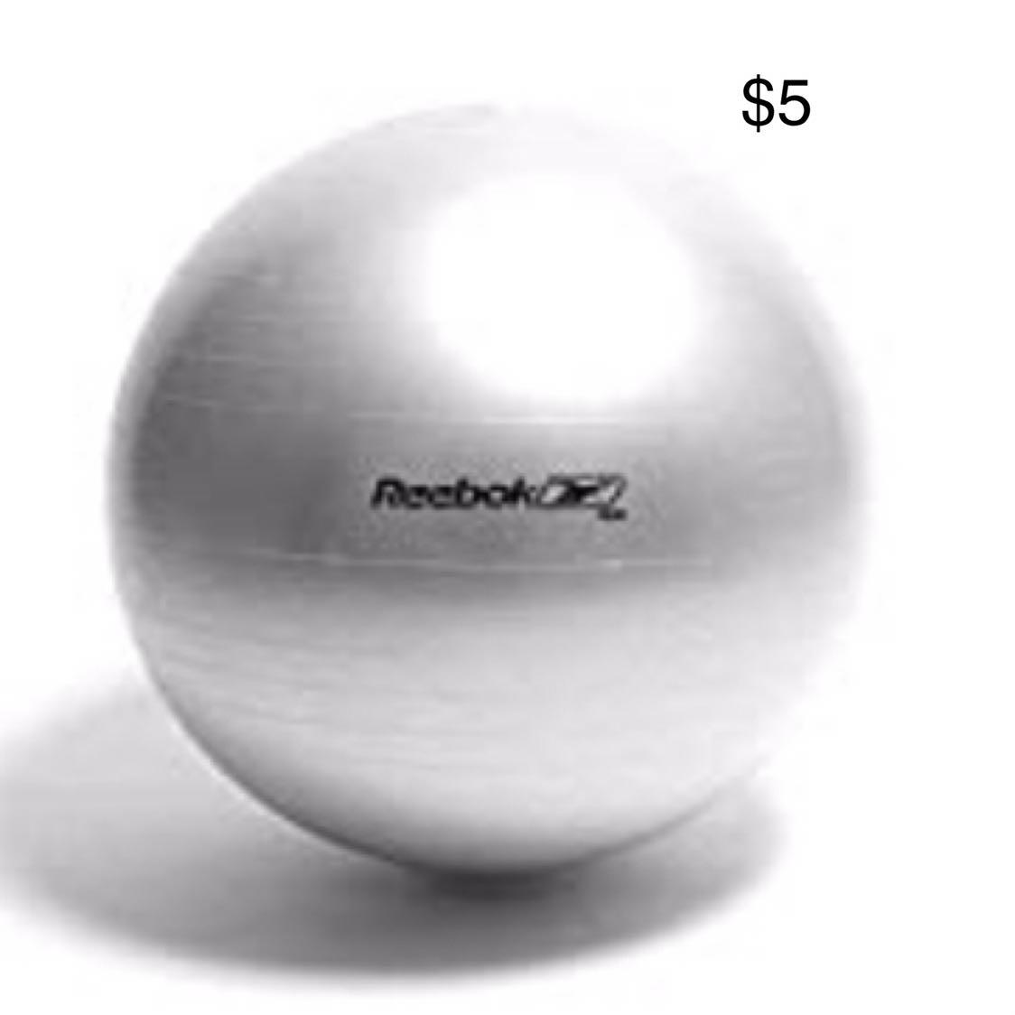 REEBOK Large Gym Ball (Silver)