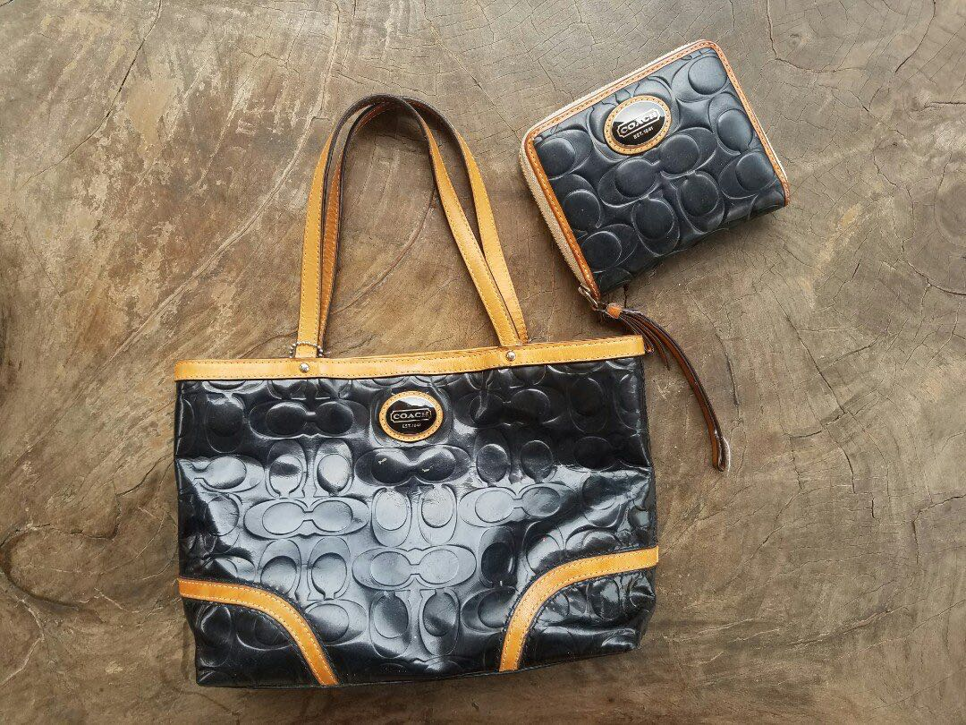 5bd3fc7368 REPRICED!! Coach Peyton J1293-F48166 Mini Embossed Patent Leather ...