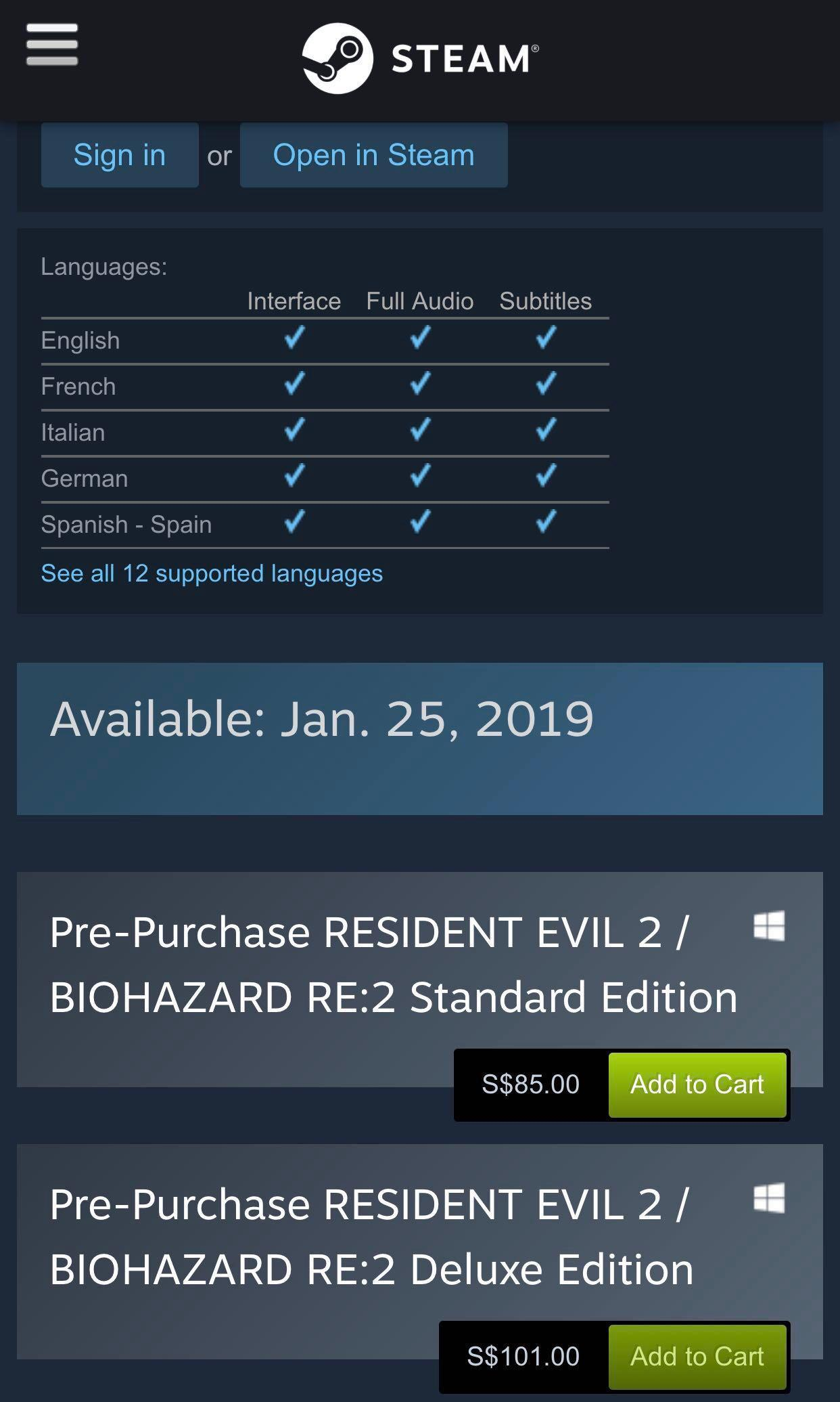 Resident Evil 2, Devil May Cry 5, Tom Clancy's The Division