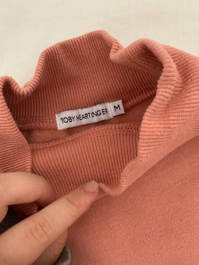 Salmon Cropped Sweater