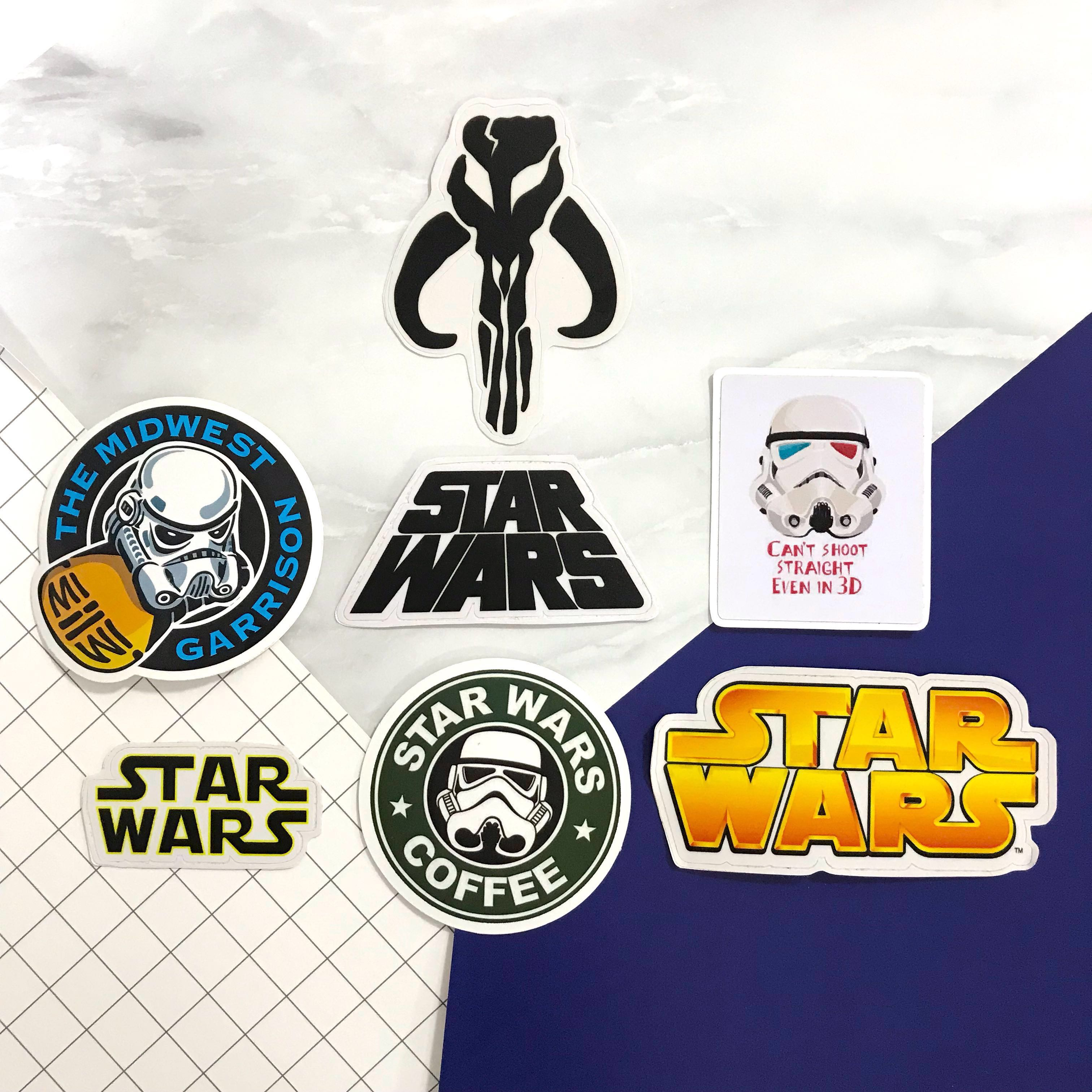 Star wars logo character sticker decal for luggage laptop phone wall decoration deco paste art pop culture design craft others on carousell