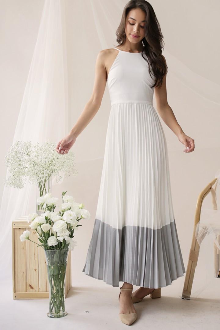 13b8d78556 TTR Abe Colourblock Maxi Dress, Women's Fashion, Clothes, Dresses ...
