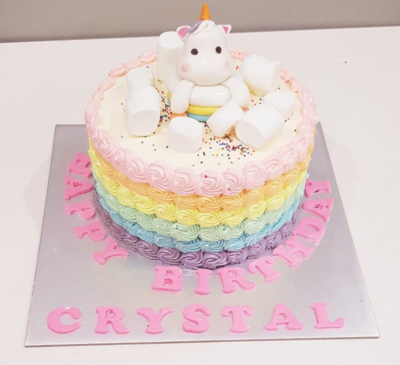 Unicorn Birthday Cake Food Drinks Baked Goods On Carousell