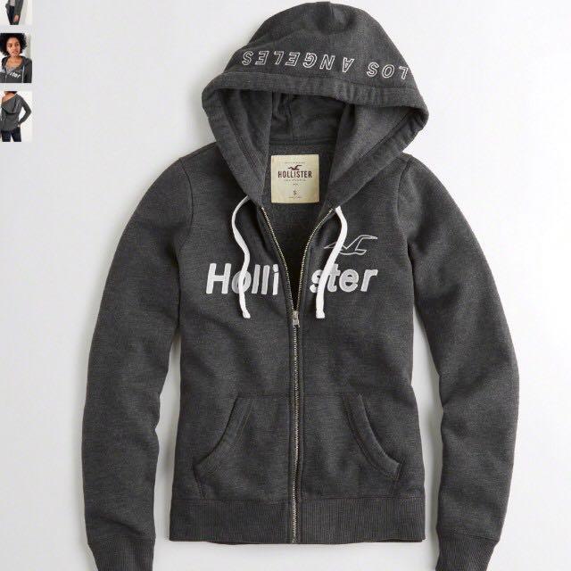 U.P.  99) BNIP Hollister Grey Hoodie 9ac83271a