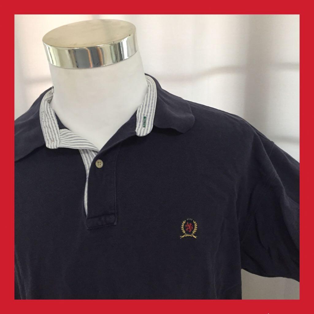 de9a90468 Vintage Tommy Hilfiger polo top, Men's Fashion, Clothes, Tops on ...