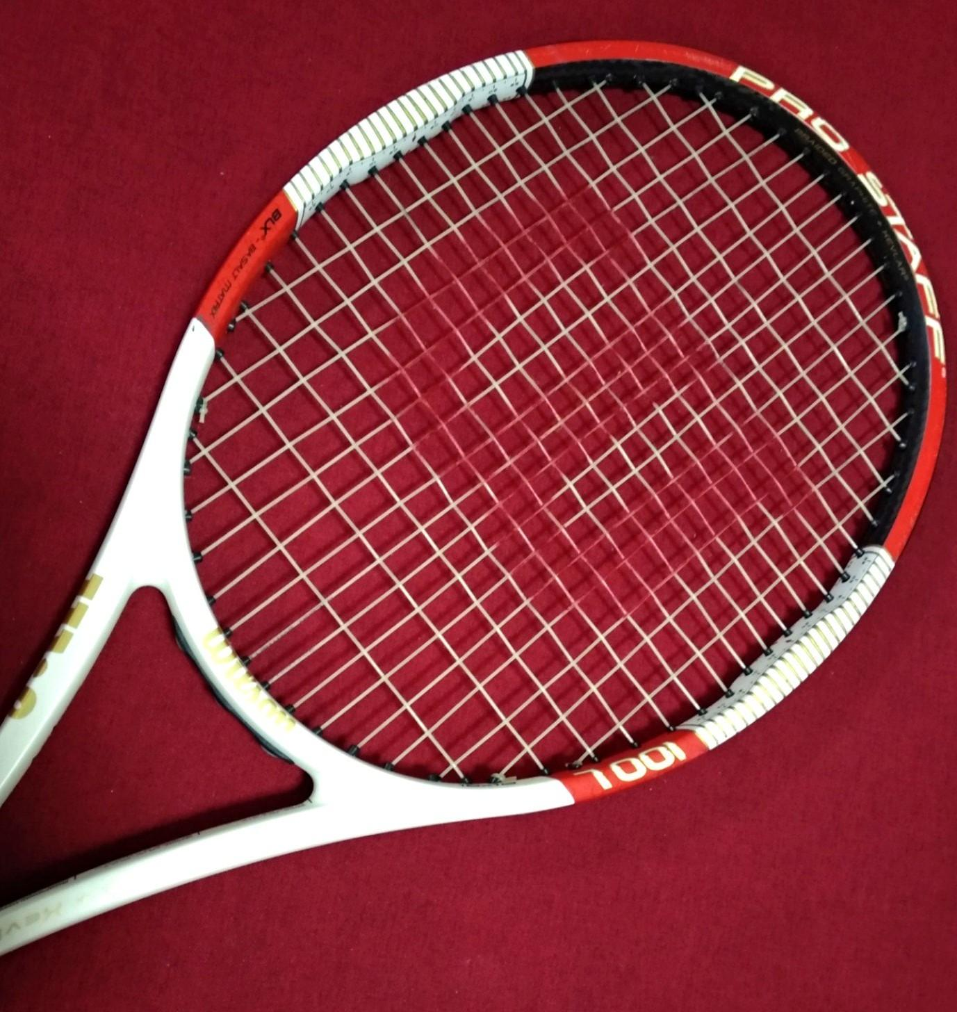 Wilson Pro Staff 100l Tennis Racket Sports Sports Games Equipment On Carousell