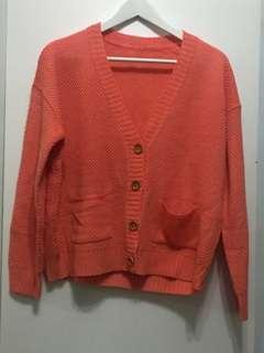 🚚 暖橘針織外套