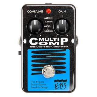 EBS MultiComp Studio Edition Compressor Effects Pedal (for Guitar, Bass and more)