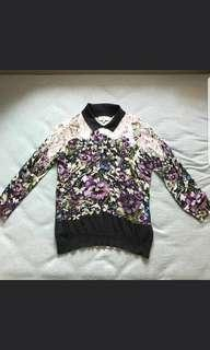 [Buy2get1free]Ted baker signature flower top