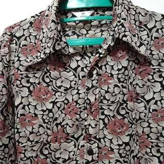 Flower Brown Shirt