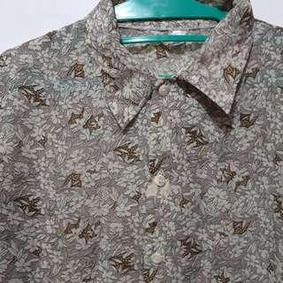 Flower Sifon Shirt