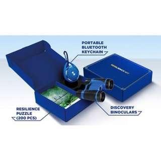 Kids Binoculars, Portable Bluetooth Keychain & Puzzle (3 in 1 set)